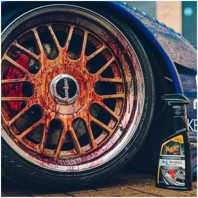 Meguiar's Ultimate All Wheel Cleaner ratlankių valiklis 3