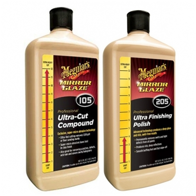 Meguiar's Ultra Cut 105 & Finish 205 rinkinys 3