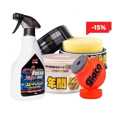 Soft99 Fusso + Glaco Kit Premium 3